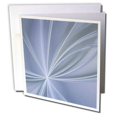 3dRose Andrea Haase Art Illustration - Light Rays Abstract Art in Pastel Blue - 6 Greeting Cards with Envelopes (gc_282496_1)