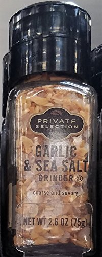 Private Selection Garlic & Sea Salt Grinder 2.6 oz (Pack of 2) by Private Selection