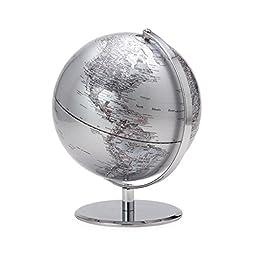 Torre & Tagus 901749C Latitude World Globe, Silver