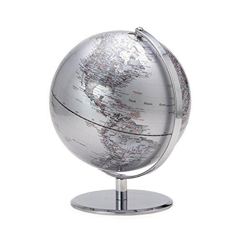 Torre & Tagus Latitude World Globe, Silver
