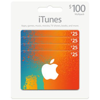 Itunes Gift Card (Pack of 4)