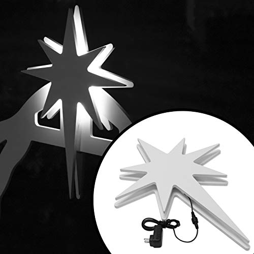 Teak Isle Lit Nativity Star For Holy Night Outdoor Nativity Import