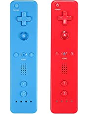 Yosikr Wireless Remote Controller for Wii Wii U, No Motion Plus - 2 Packs Red and Deep Blue