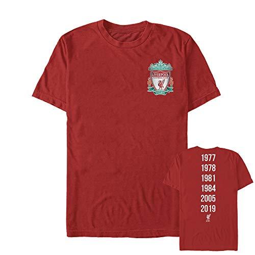Liverpool Football Club Men's Bird Shield 2019 Winners Red T-Shirt ()
