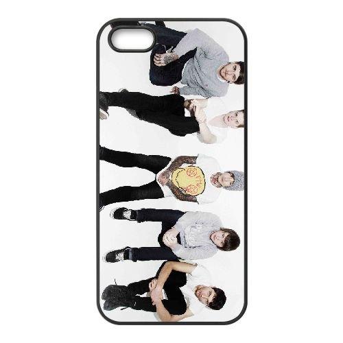 Bring Me The Horizon 013 coque iPhone 4 4S cellulaire cas coque de téléphone cas téléphone cellulaire noir couvercle EEEXLKNBC23814