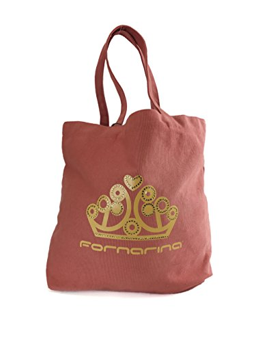 Fornarina Penelope Strass Canvas Tote Bag Red