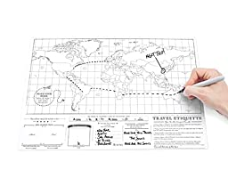 Scratch Map  Travel Size Personalised World Map By Luckies