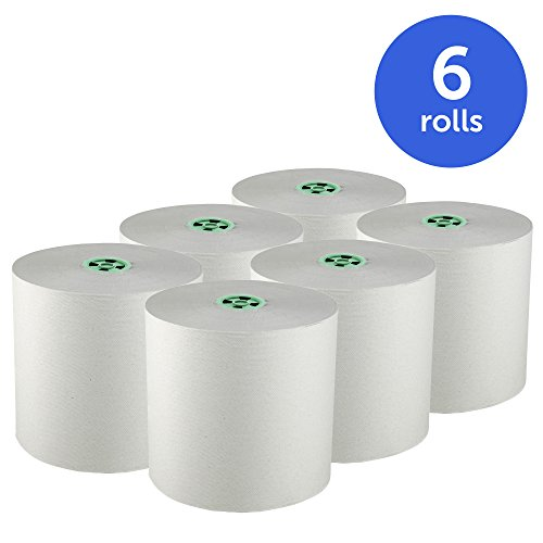 Scott Pro Hard Roll Paper Towels (25700) with Absorbency Pockets, for MOD Dispenser (Green-Colored Core only), 1150' / Roll, 6 White Rolls / Case, 6,900 feet by Kimberly-Clark Professional (Image #1)