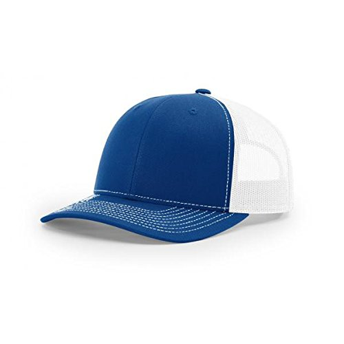 1d77aaaf Galleon - Richardson Royal/White 112 Mesh Back Trucker Cap Snapback Hat