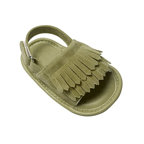 Moresave - Zapatos primeros pasos de Charol para niño verde oscuro