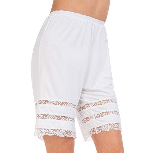 Lace Slip Half Slip - MANCYFIT Half Slip Shorts Culotte for Women Split Skirt Lace Pettipants Snip 7-9