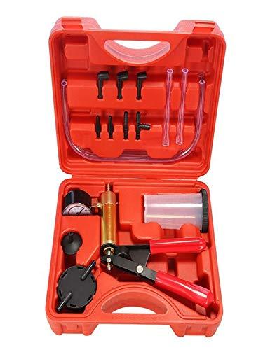 Vacuum Pressure Pump, Brake Bleeder Leakage Tester Hand Held Vacuum Pump Kit Car Auto Vehicles Motorcycle Garage Diagnostic Tool (Black)