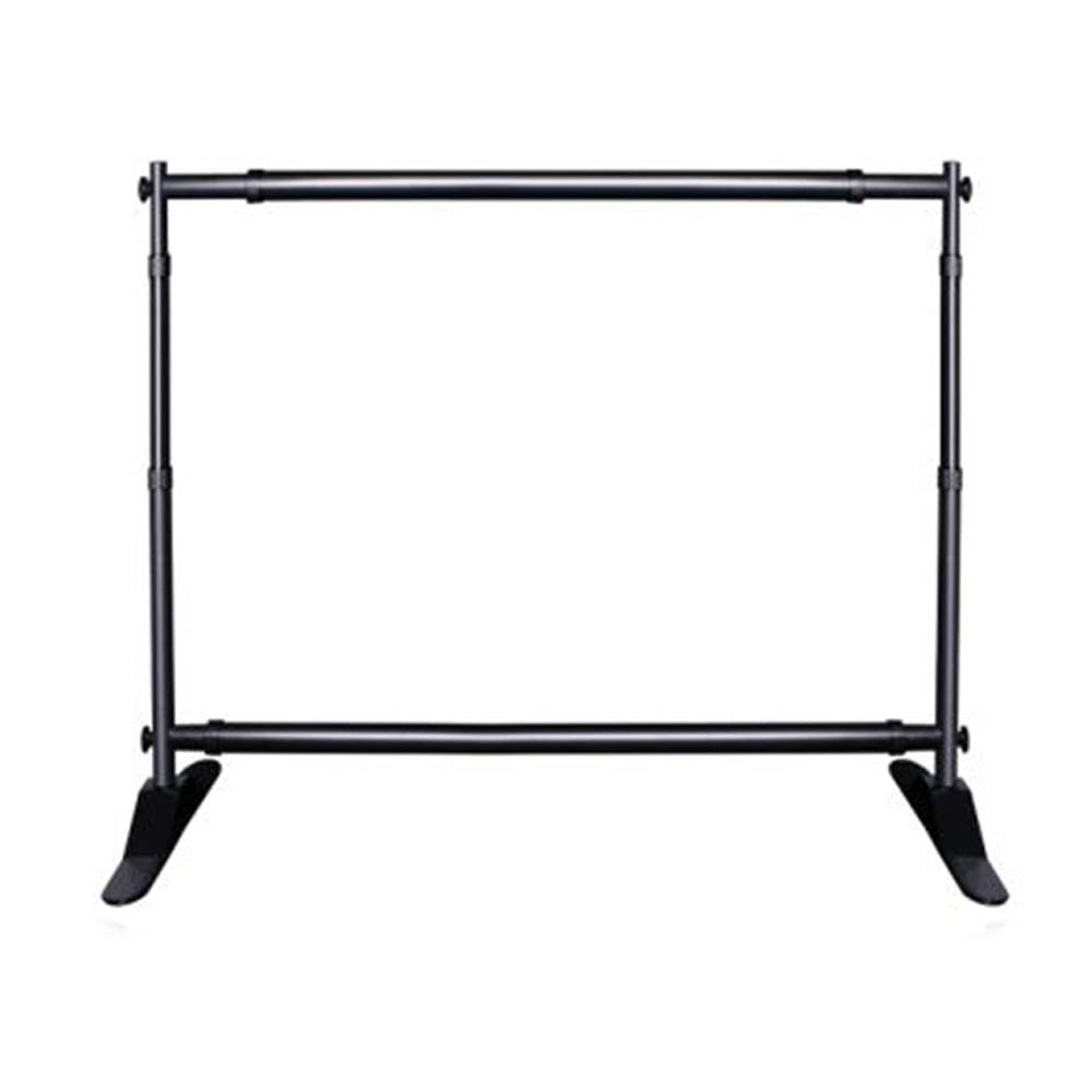 Trade Show Display 8 x10ft Step and Repeat Adjustable Backdrop Support System Kit Telescopic Banner Stand Stand Only with Carry Bag