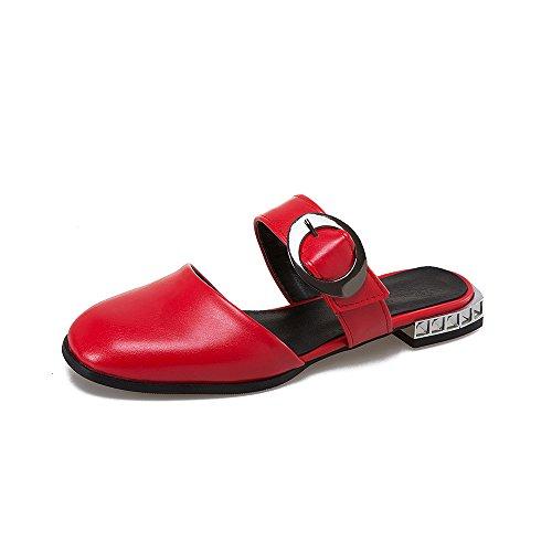 Red Caviglia Sandali Donna alla QIN Tacco Cinturino Basso amp;X xwzxYFq8