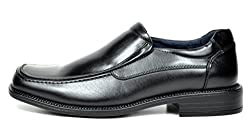 Bruno Marc Men's Goldman-02 Black Leather Lined Square Toe Dress Loafers Shoes - 9 M US