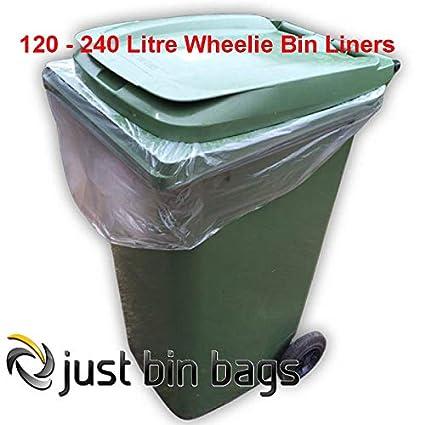Clear Wheelie bin bags - 100 per box