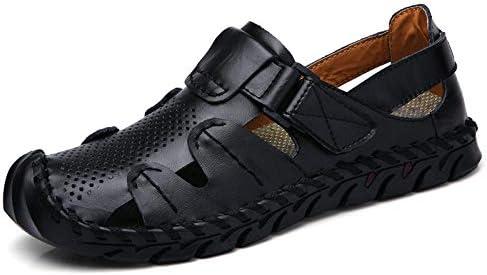 Sandales pour hommes Baotou deux trous d'usure chaussures pour hommes chaussures de plage fond super doux respirant sandales et pantoufles pour hommes-Brun jaune 983_44