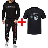 Astroworld Hoodies Plus pants T-shirt Autumn Streetwear Pullover Travis Scotts Young Men Women FashionHip Hop Printing