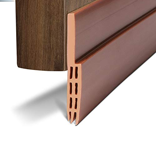 Under Door Draft Blocker Door Seal Insulation Door Threshold Cover Weatherstripping for Door Bottom, Guard Sweep Door Draft Stopper, Winter Stripping Door Seal Blocker, 2'' W x 39'' L, Brown by BAINING