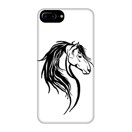 Coque Apple Iphone 7+ - Tête cheval tribal Noire