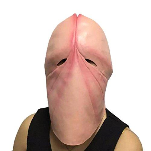 Scary Horror Mask Sikye Penis Dick Head Latex Mask Party Prank Halloween Joke Gift (Good Pranks Halloween Night)