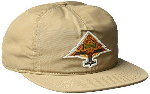 LRG Men's Mystic Snap Back Hat, English Khaki, One Size