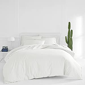 Now House by Jonathan Adler Otto Duvet Cover and Sheet Set Bundle, White