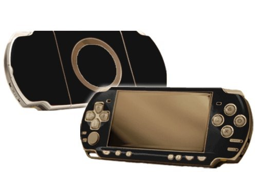 Sony PlayStation Portable 2000 (PSP-Slim) Skin - NEW - MATTE BLACK system skins faceplate decal mod