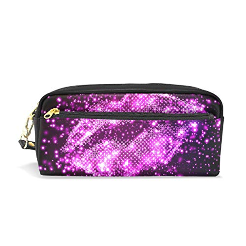 Pencil Case Pen Bag Valentine's Day Lips Stationery Pouch Cosmetic Makeup Wristlets Bag Zipper