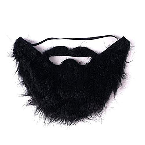 VIGUEUR Mustaches Self Adhesive - Costume Party Male Man Fake Beard Moustache Black -
