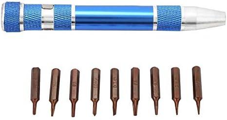 Fictor 1つのポータブルペンスタイルのアルミ精密ドライバーセット携帯電話の修復ツールで9