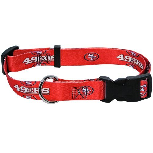 San Francisco 49ers Pet Dog Adjustable Collar All Sizes (Medium)