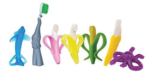 41lD1CTlB1L - Baby Banana Bendable Training Toothbrush, Toddler