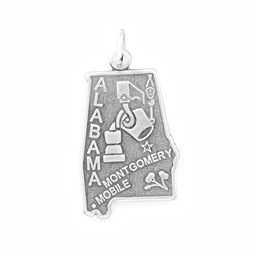 Sterling Silver Alabama State Charm (Sterling Silver Alabama State Charm)