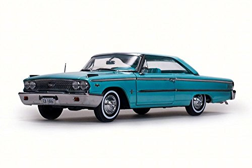 1963 Ford Galaxie 500/XL, Peacock Blue - Sun Star 1466 - 1/18 Scale Diecast Model Toy Car