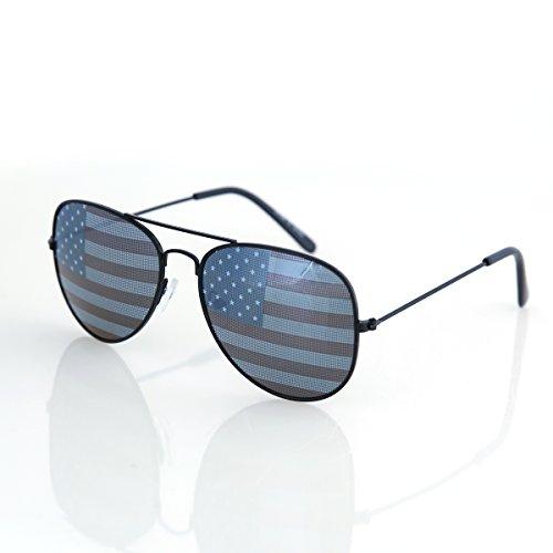 Shaderz USA America Aviator Sunglasses Black Color Frame