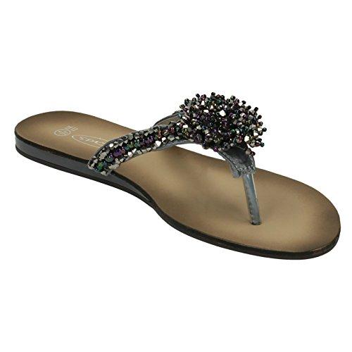 Naiset Sandaalit Hopea F0474 Paikalla Tyyli BBwYqgr
