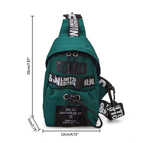 Shoulder Chest Oxford Girls Bag for Bag and Letter Green Green Bag Crossbody Women Pawaca Pack Backpack Sling Crossbody Outdoor PgqAHH