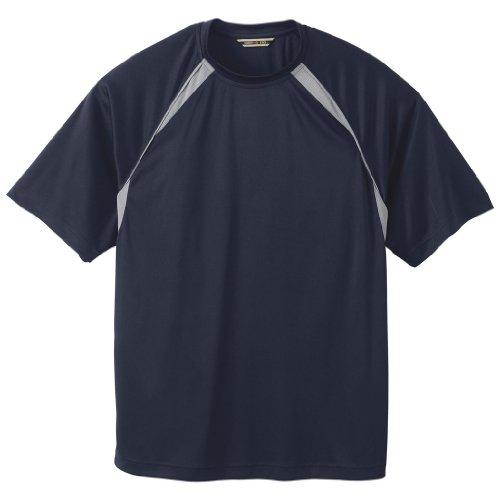 Ash City Mens Athletic T-Shirt (XXXX-Large, Classic Navy/Gray (Ash Gray T-shirt)