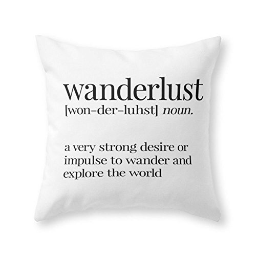 Society6 Wanderlust Definition Throw Pillow Indoor Cover (20