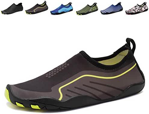 CIOR Men Women Kid's Barefoot Quick-Dry Water Sports Aqua Shoes with 14 Drainage Holes for Swim, Walking, Yoga, Lake, Beach, Garden, Park, Driving