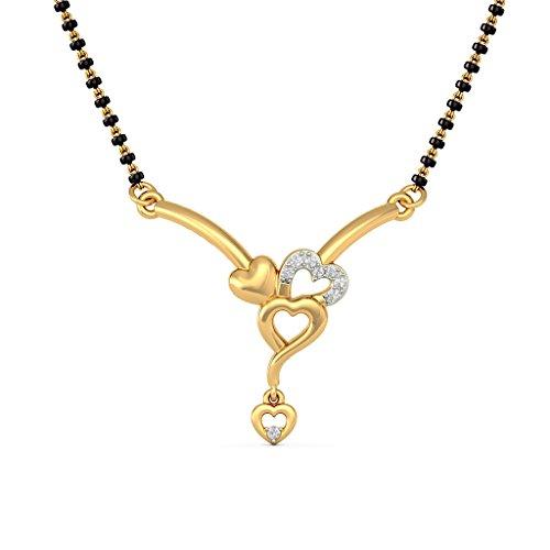 Or jaune 18K 0,05CT TW White-diamond (IJ | SI) Mangalsutra