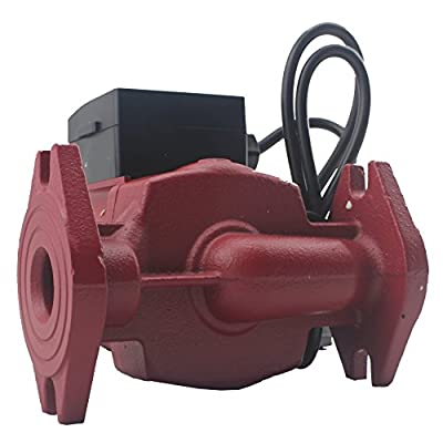 AB WiseWater Circulation/Circulating Pump with Cast Iron Flange Set/Internal Threaded Flanges - Up to 19.7 Feet Head Range, 3 Speed Switchable for Hydronic Radiant Heating and Plumbing