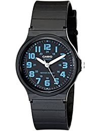 Unisex MQ-71-2BCF Classic Luminous Hands Watch With Black Resin Band