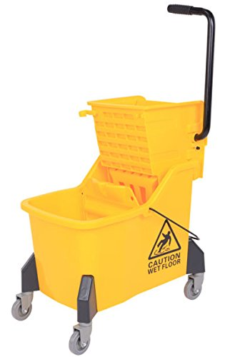 (Large Size Mop Bucket With Side Press Wringer, 44 Quart , 11 Gallons Capacity)