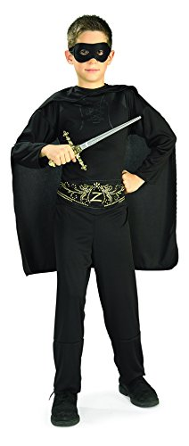 Kids Zorro Costumes (Rubie's Costume Zorro Child Costume, Large)