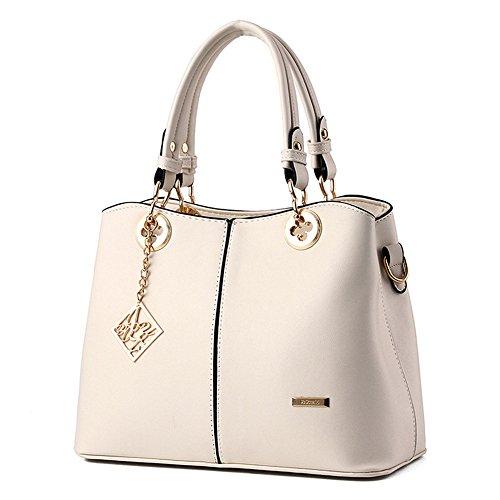 bolsa l De Moda Bandolera Mujer Blanco X h Asa 14 w Impermeable Hombro Cm Duradero Bolsa Con bolso 22 Mano Carteras Wewod 30 HAqw7