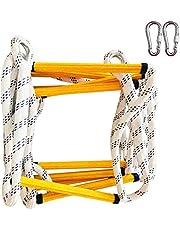 Touguqing Escape Rope Ladder Emergency Fire Escape Ladder Veiligheidsladder Vlambestendig Antislip met karabijnhaken snel te implementeren, voor raam balkon klimmen buiten, gemakkelijk te gebruiken/op te slaan