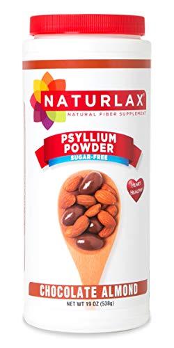 Naturlax Chocolate Almond Psyllium Husk, Fiber Supplement (19 oz)