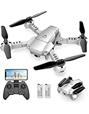 $32 » SNAPTA1N A10 Mini Foldable Drone with 1080P HD Camera FPV WiFi RC Quadcopter w/Voice Control, Gesture Control, Trajectory Flight, Circle Fly, High-Speed Rotation, 3D Flips, G-Sensor, Headless Mode